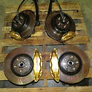 JDM 02-04 Subaru WRX STI V7 Disks brembo Brake Calipers Conversion 5X100 E-Cable